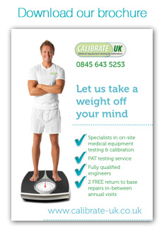 Medical equipment calibration and medical device testing - Brochure